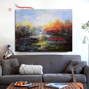Dipinti a mano con paesaggio astratto