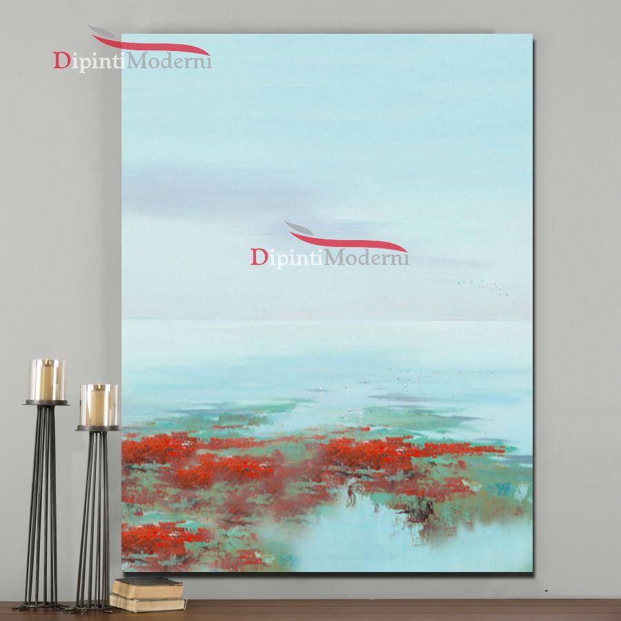 Dipinto astratto acqua riflesso di mare