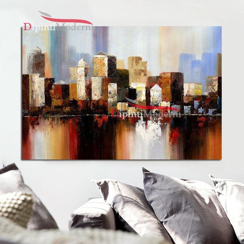 Quadri con paesaggio metropoli città - Dipinti Moderni