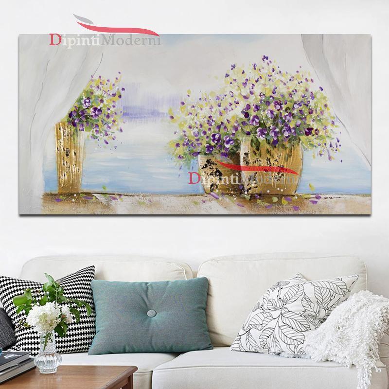 Quadri con vasi di fiori finestra - Dipinti Moderni