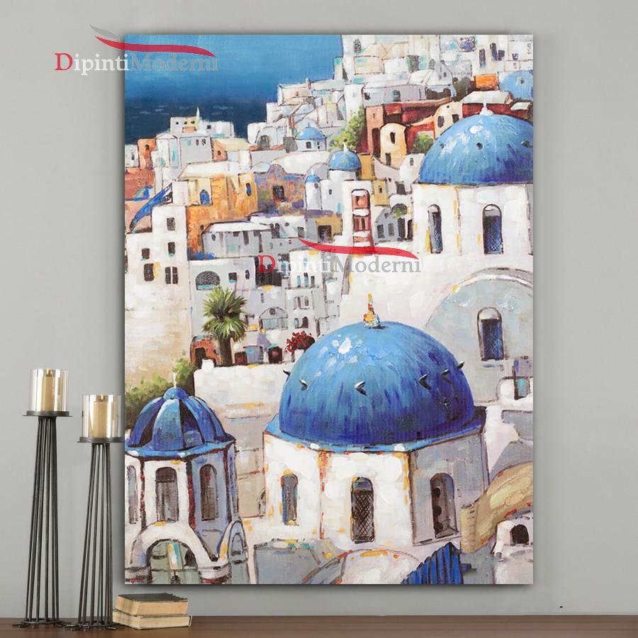 quadri dipinti a mano santorini grecia dipinti moderni On quadri dipinti a mano paesaggi