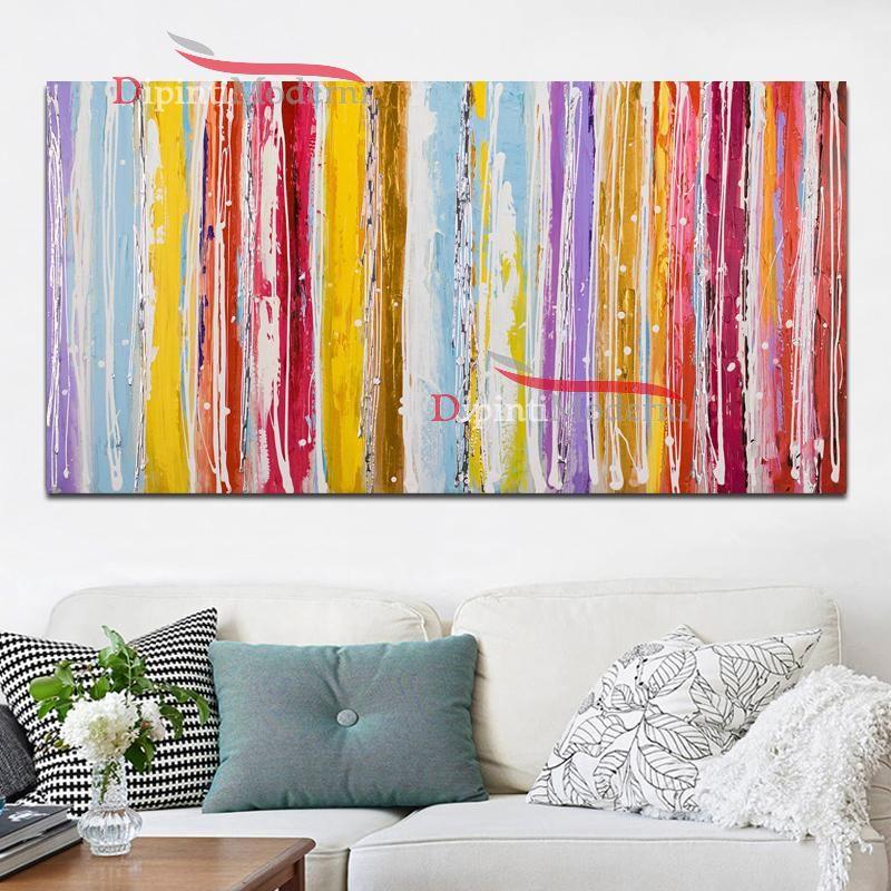 Quadri moderni colorati soggiorno - Dipinti Moderni