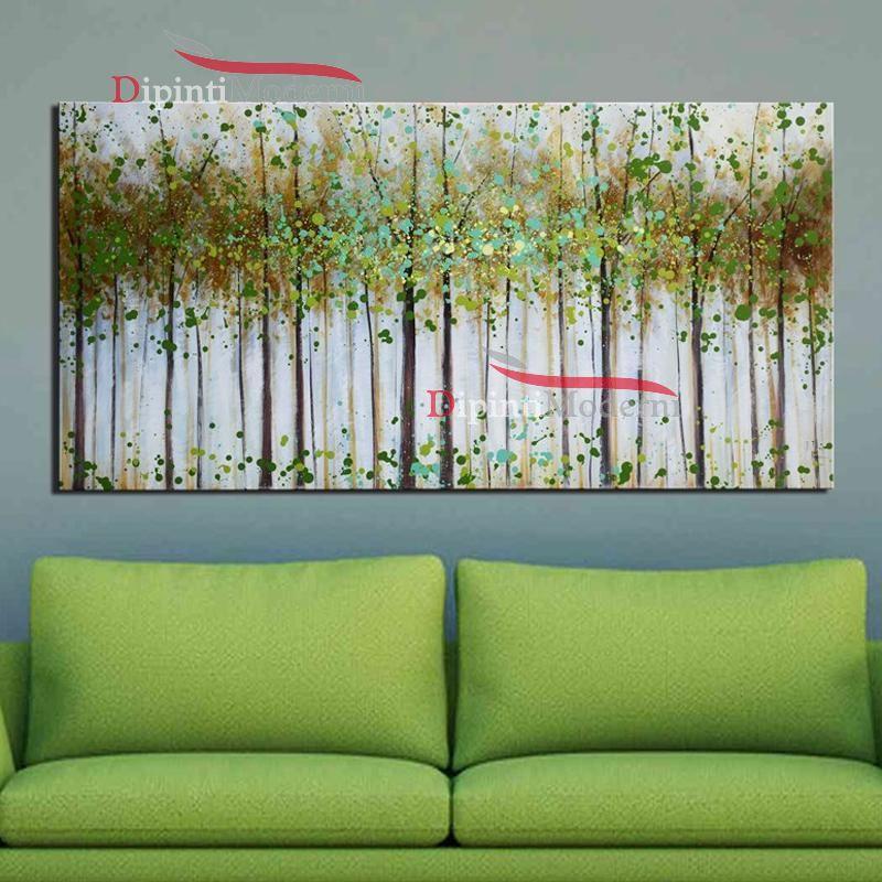 Quadri moderni con alberi arredamento verde acido dipinti moderni - Tappeti moderni verde acido ...
