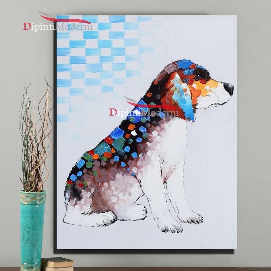 Quadri moderni con cane colorato - Dipinti Moderni