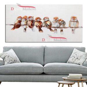 Quadri moderni con uccellini su ramo