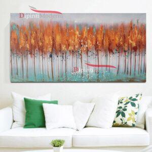 Quadro con alberi astratti in autunno