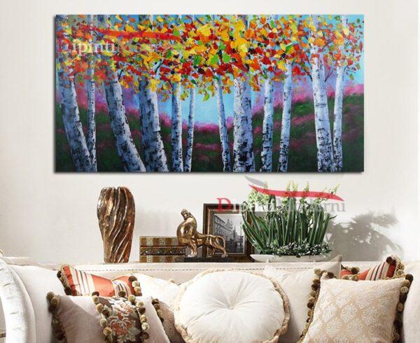 Quadro con alberi dalle foglie colorate
