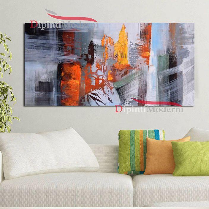 Quadro su tela astratto soggiorno colorato dipinti moderni - Ikea quadri su tela ...