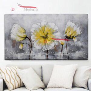 Quadro su tela fiori gialli