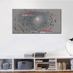 Quadro vortice banco di pesci