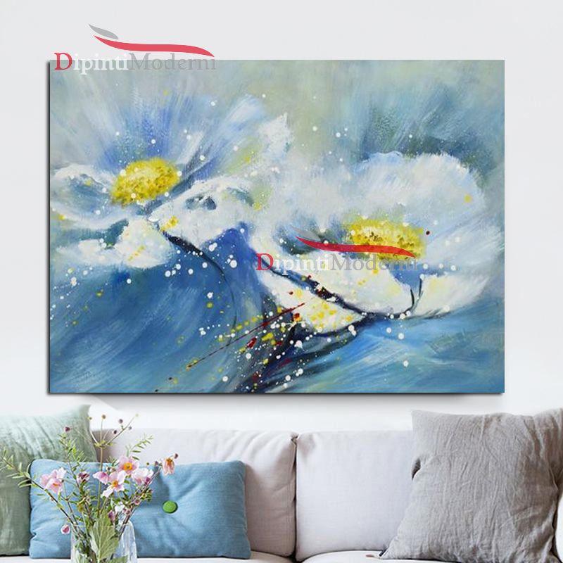 dipinti con fiori bianchi e gialli