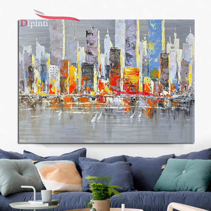 Quadri moderni america palazzi grattacieli dipinti moderni for Compro quadri moderni