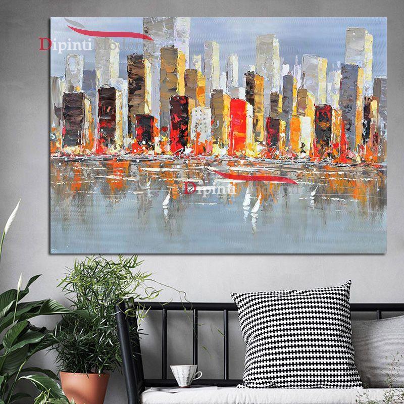 Quadri moderni metropoli america grattacieli dipinti moderni for Quadri per soggiorni moderni