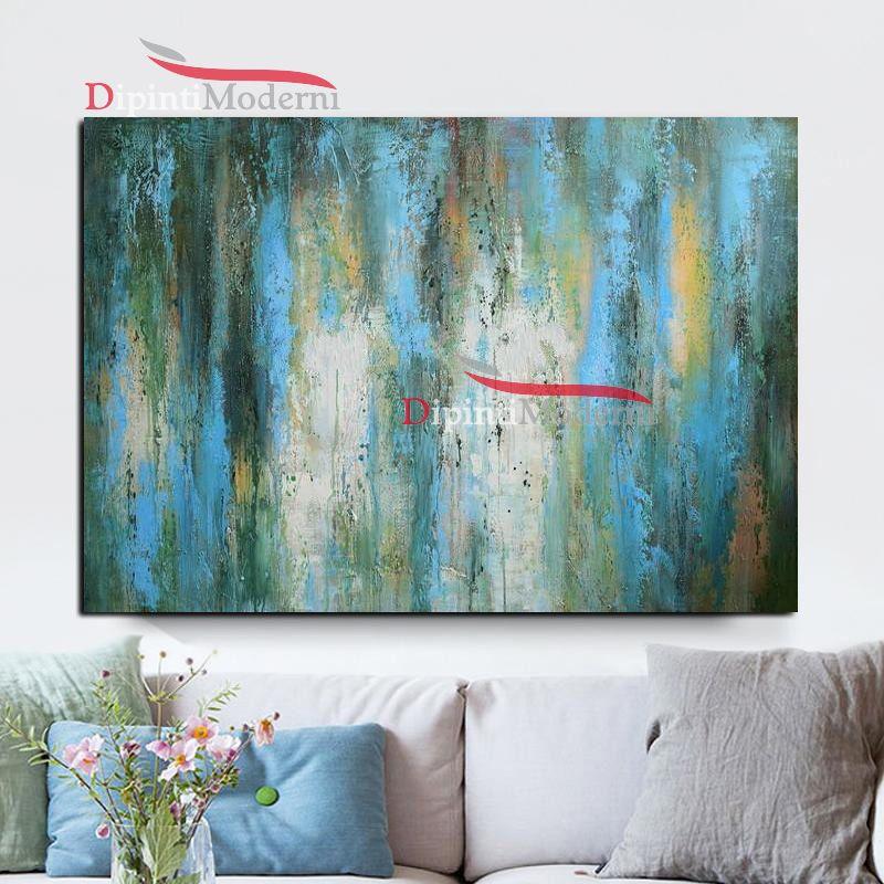 quadro decorativo astratto azzurro verde