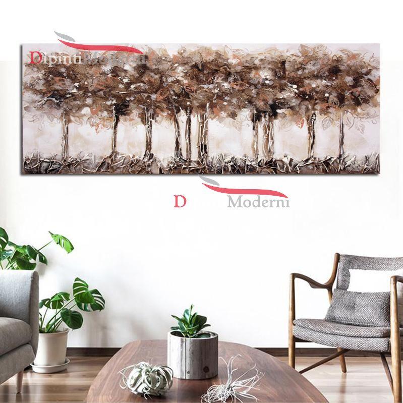 Dipinti moderni alberi colori tenui