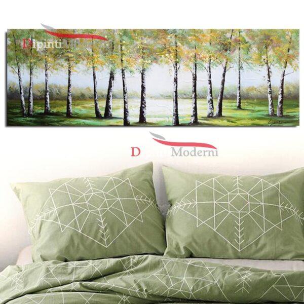 Dipinti moderni bosco paesaggio verde