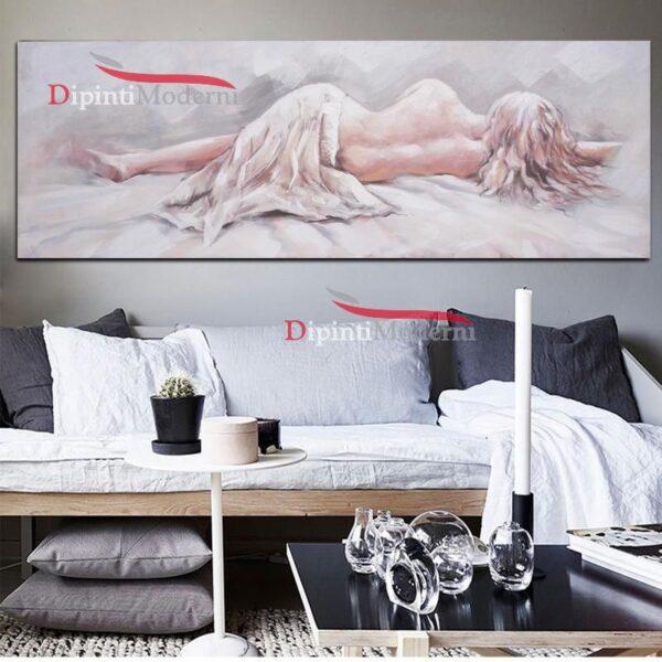 Dipinti moderni donna nuda relax