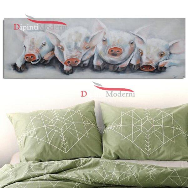 Dipinti moderni maialini porcellini