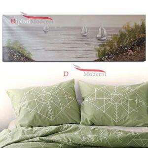 Dipinti moderni paesaggio mare barche