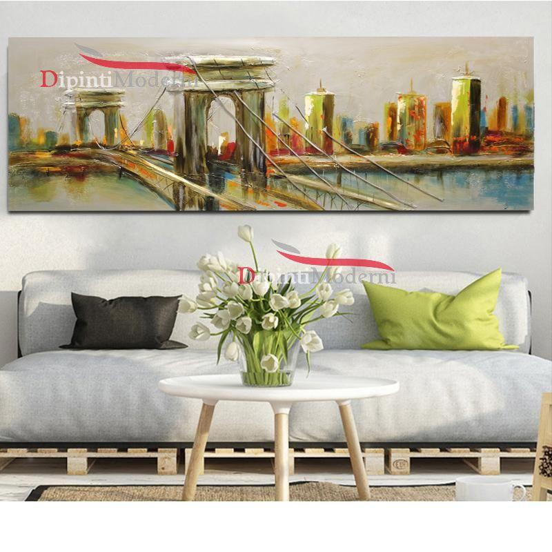 Dipinti moderni ponte cavi sospesi america