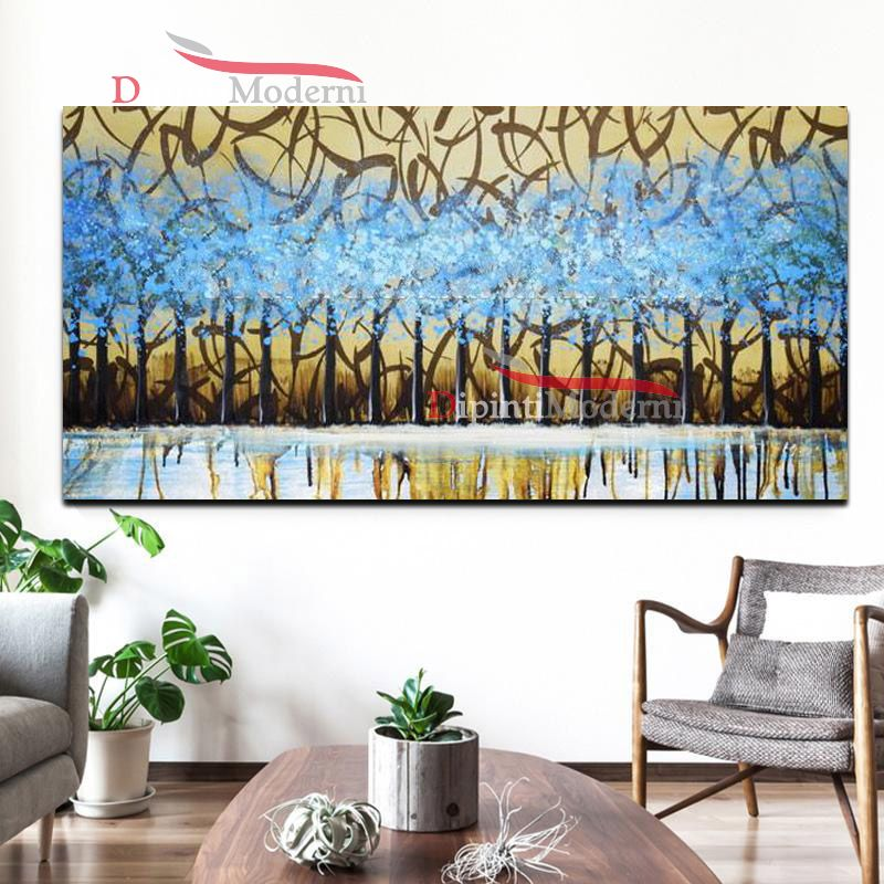 Dipinti su tela blu marroni decorativi dipinti moderni for Dipinti su tela astratti moderni