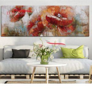 Quadri floreali moderni dipinti a mano