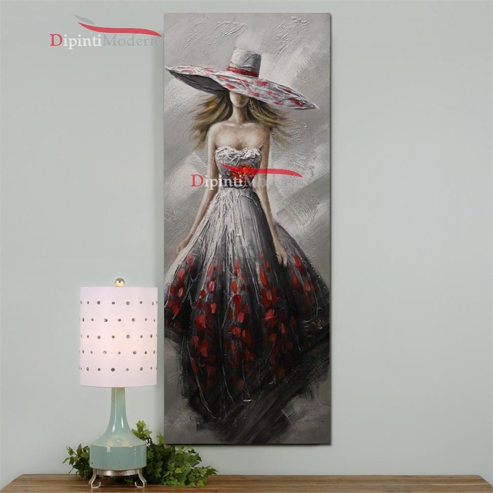 Quadri moderni verticali donna elegante cerimonia - Dipinti Moderni