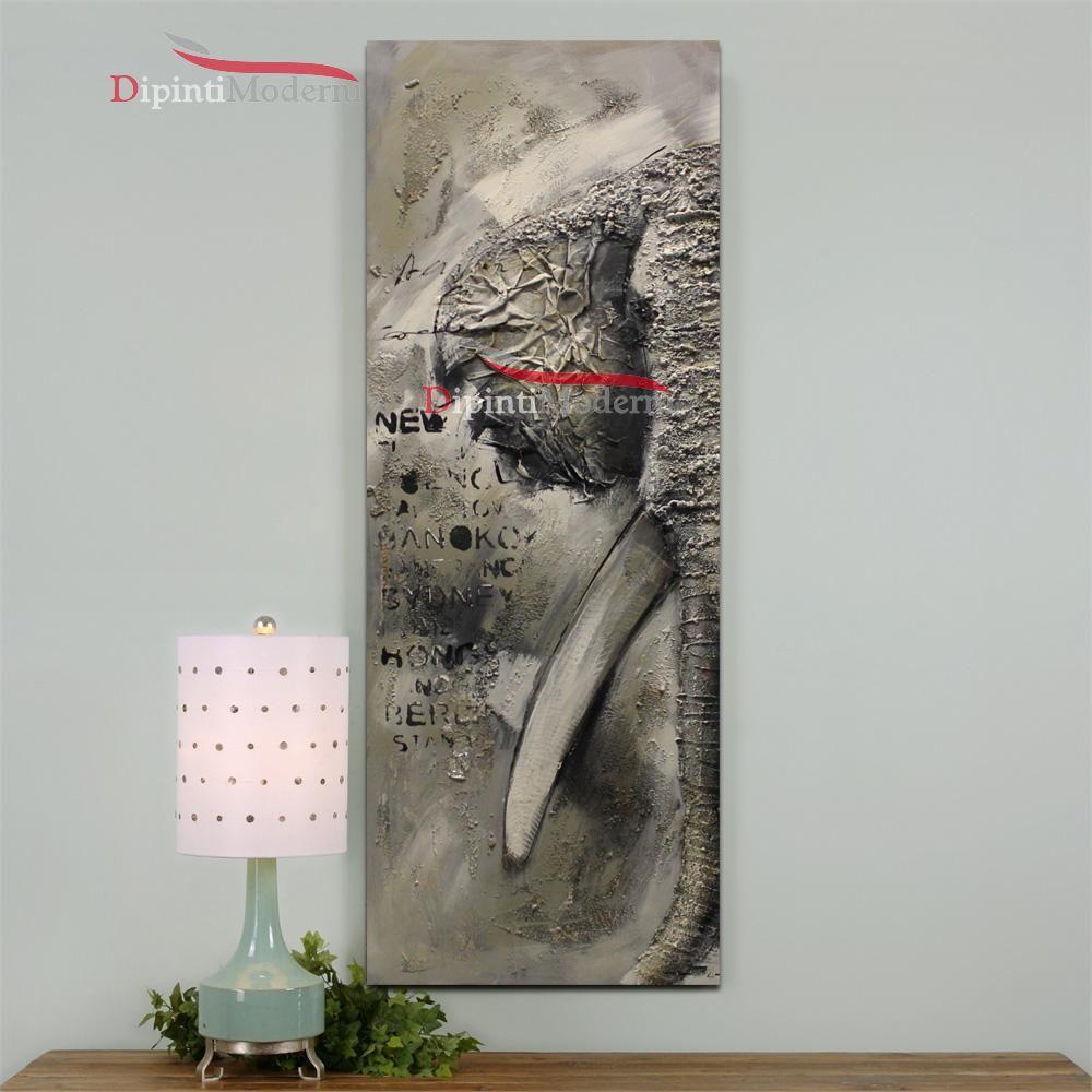 Quadri moderni verticali elefante dipinti moderni for Quadri verticali