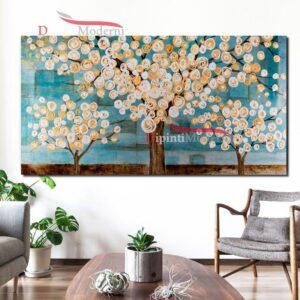 Quadri su tela alberi in fiore contemporanei