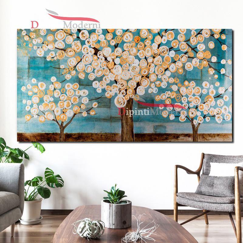 Quadri su tela alberi in fiore contemporanei dipinti moderni for Quadri contemporanei