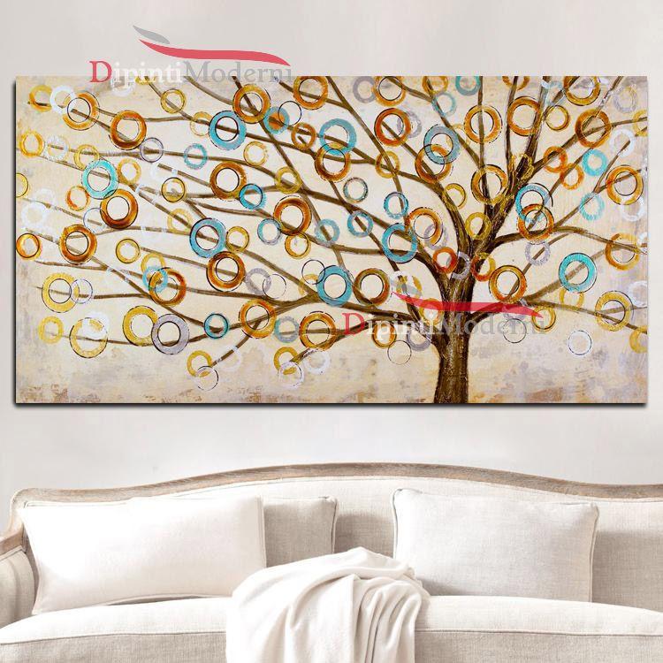 Quadri su tela albero della vita astratto