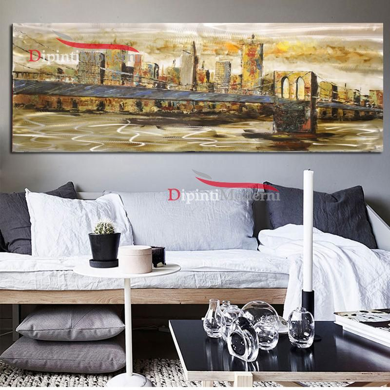 Quadro orizzontale salotto ponte New York