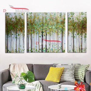 Dipinti moderni multi tela foresta verde
