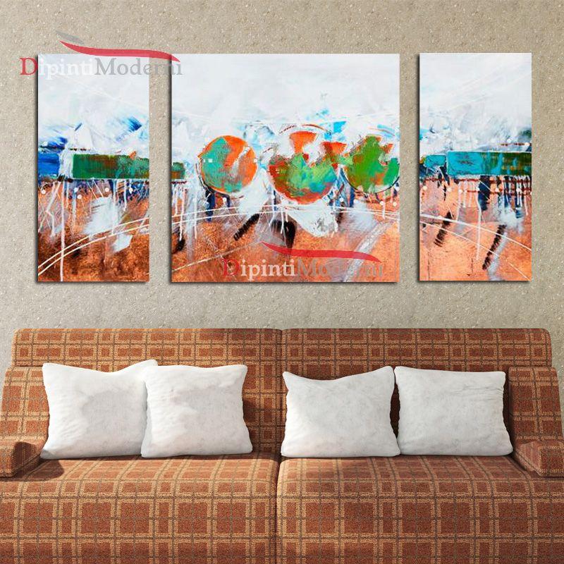 Dipinti moderni su tela arredamento soggiorno colorato for Arredamento colorato