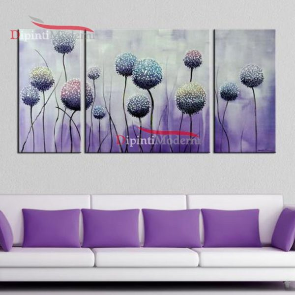 Quadri lilla alberi astratti dipinti su tela moderni