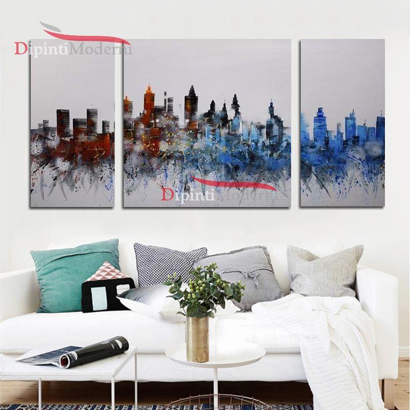 Quadri moderni grattacieli dipinti a mano dipinti moderni for Dipinti a mano moderni