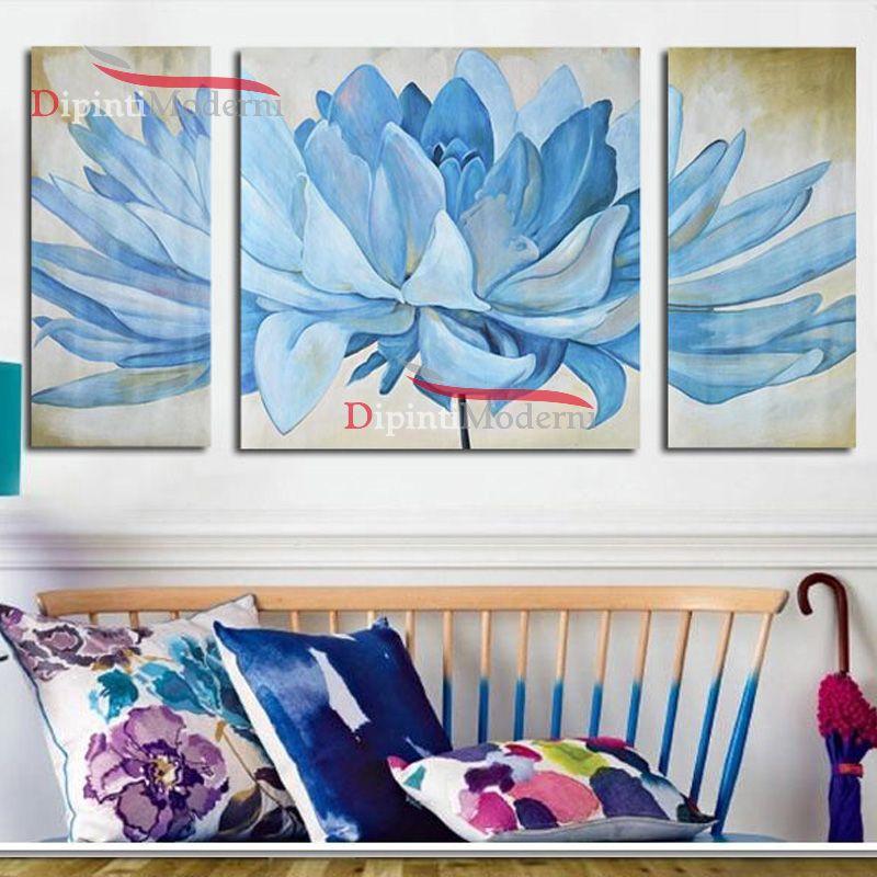Quadri soggiorno fiore celeste - Dipinti Moderni