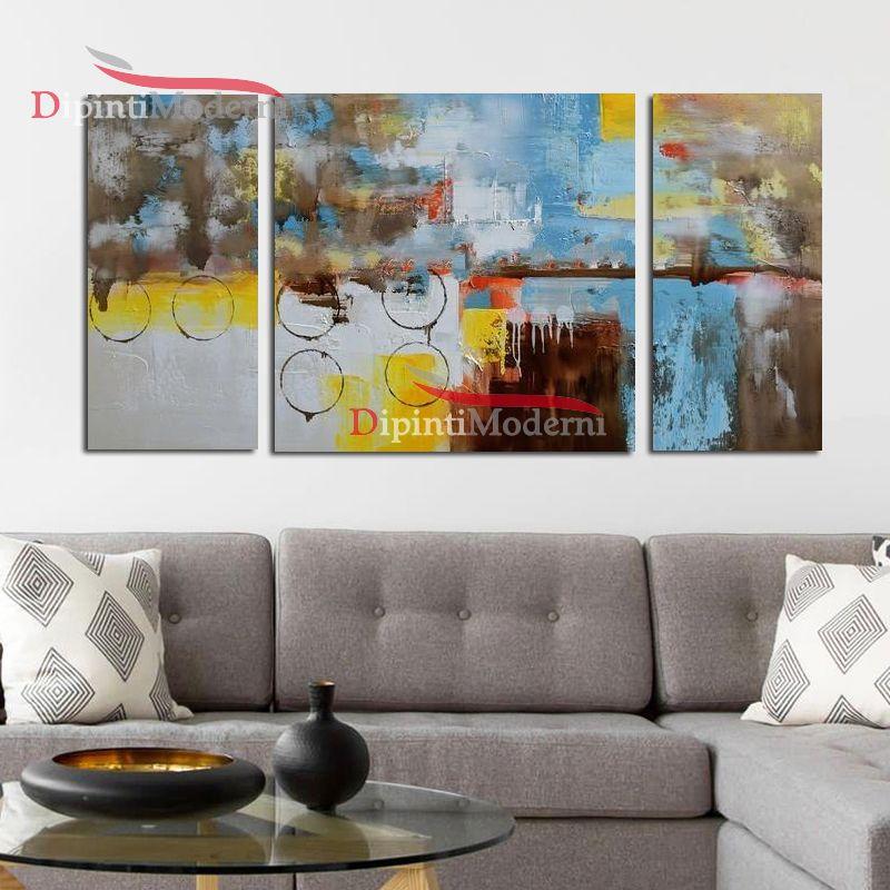 Quadro moderno astratto decorativo su tela - Dipinti Moderni