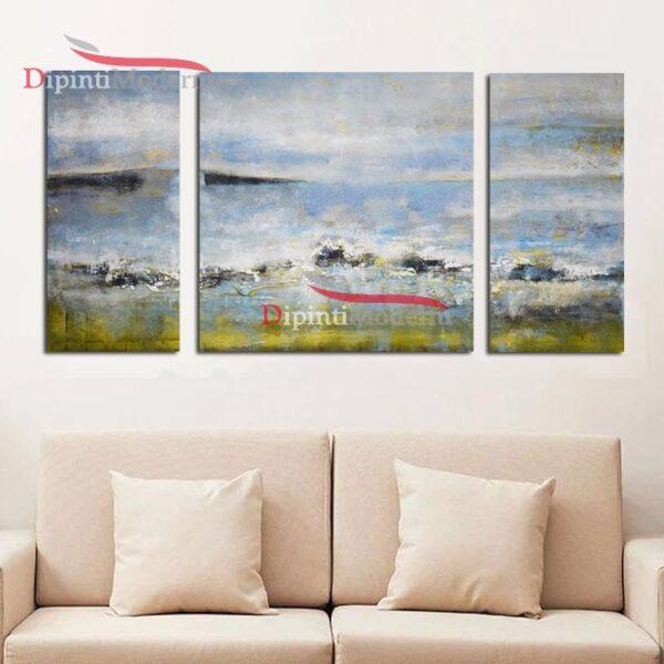 Tela dipinta paesaggio astratto