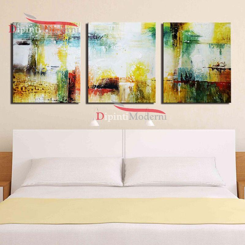 Dipinti su tela astratti colori giallo bianco dipinti for Dipinti su tela astratti moderni