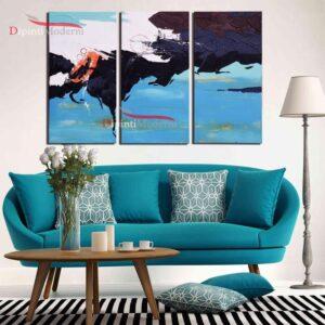 Dipinti su tela moderni azzurro turchese arredamento soggiorno