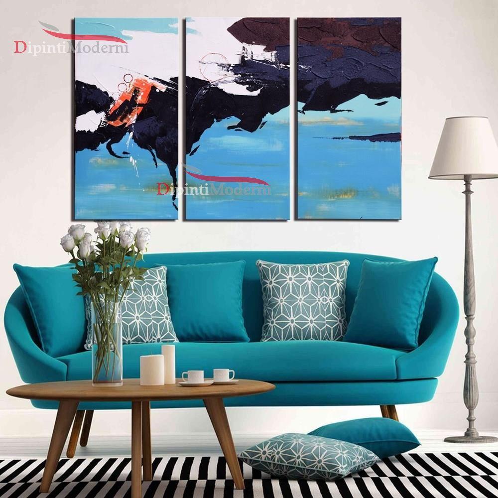dipinti su tela moderni azzurro turchese arredamento
