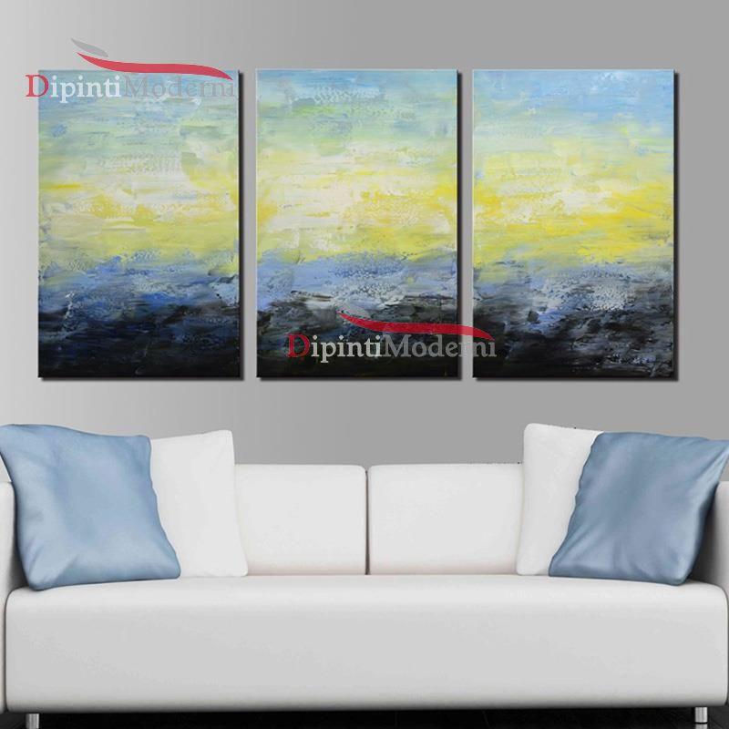 Quadri cielo sole mare astratto olio su tela - Dipinti Moderni