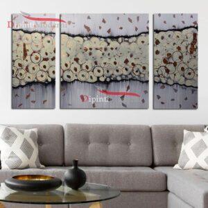 Quadro grigio astratto decorativo salotto divano tortora