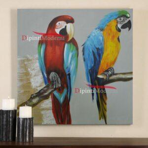Quadri moderni con pappagalli