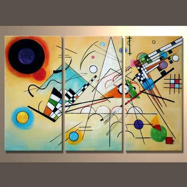 Quadro moderno dipinto a mano opera di Kandinsky