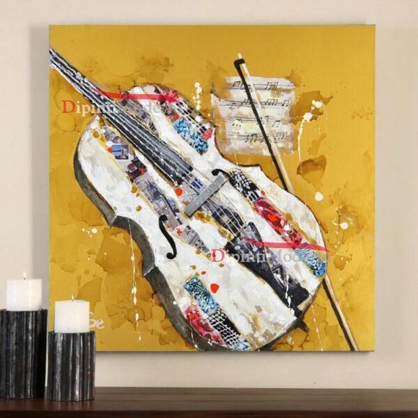 quadri moderni con violino